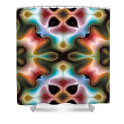 Mandala 82 For Iphone Double Shower Curtain by Terry Reynoldson