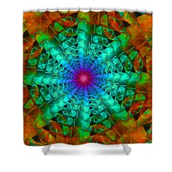 Shower Curtain featuring the digital art Mandala by Ester  Rogers