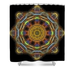 Mandala Of Light 1 Shower Curtain