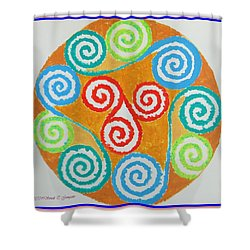 Shower Curtain featuring the painting Mandala by Sonali Gangane