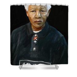Shower Curtain featuring the digital art Mandela by Vannetta Ferguson