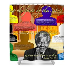 Mandela's Rainbow With Scripture Shower Curtain
