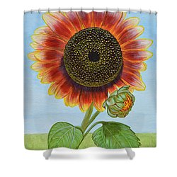 Mandy's Magnificent Sunflower Shower Curtain