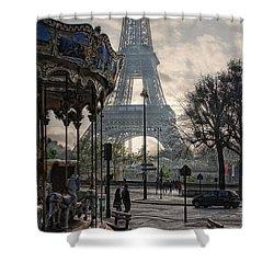 Manege Parisienne Shower Curtain by Joachim G Pinkawa