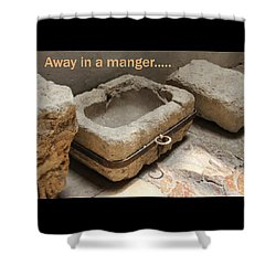 Manger At The Ecce Homo Convent In Jerusalem Shower Curtain by Jennifer Kathleen Phillips