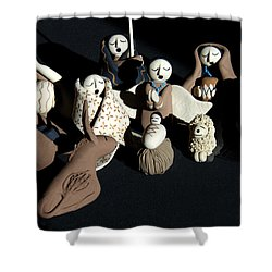 Manger Shower Curtain by Ron White