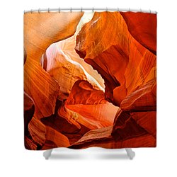 Manger Scene In Lower Antelope Canyon-az Shower Curtain by Ruth Hager