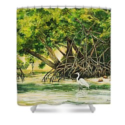 Mangrove Morning Shower Curtain