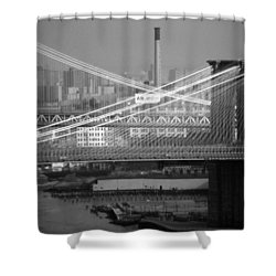Manhattan And Brooklyn Bridge's Shower Curtain