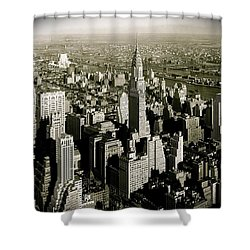 Manhattan And Chrysler Building II Shower Curtain