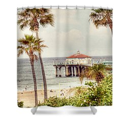 Manhattan Beach Pier Shower Curtain