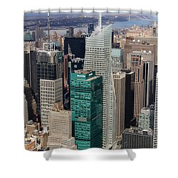 Manhattan Bryant Park Aerial Shower Curtain by Jannis Werner