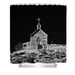 Manhattan Church Shower Curtain by Cat Connor