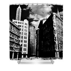 Manhattan Highlights B W Shower Curtain by Benjamin Yeager