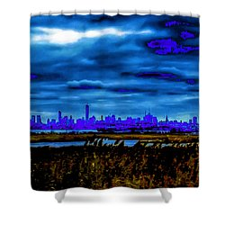 Manhattan Project Shower Curtain