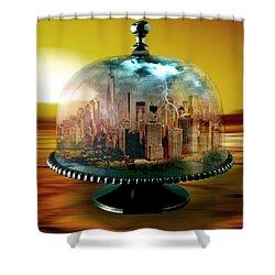 Manhattan Under The Dome Shower Curtain