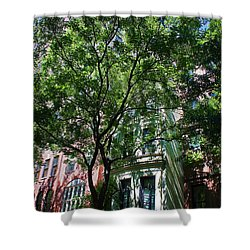 Shower Curtain featuring the photograph Manhattan Upper East Side Late Summer by Andy Prendy