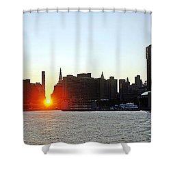Shower Curtain featuring the photograph Manhattanhenge 2011 by Lilliana Mendez
