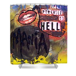 Mania Shower Curtain by Lisa Piper