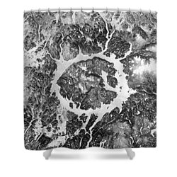 Manicouagan Crater Shower Curtain by Anonymous