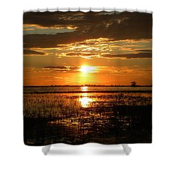 Shower Curtain featuring the photograph Manitoba Sunset by James Petersen