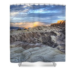 Manly Beacon Shower Curtain by Juli Scalzi