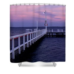 Manns Beach Jetty Shower Curtain