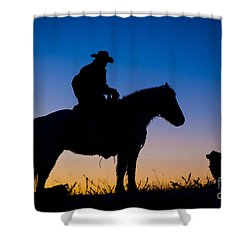 Man's Best Friend Shower Curtain by Inge Johnsson