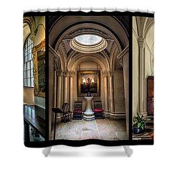 Mansion Hallway Triptych Shower Curtain by Adrian Evans