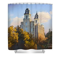 Manti Temple Shower Curtain by Rob Corsetti