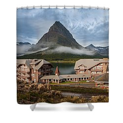 Many Glacier Hotel Shower Curtain