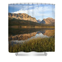 Shower Curtain featuring the photograph Many Glacier Reflections by Jack Bell