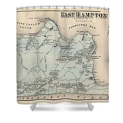 Map Of East Hampton 1873 Shower Curtain