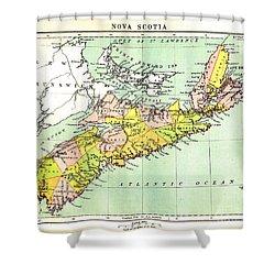 map of Nova Scotia - 1878 Shower Curtain
