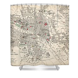 Map Of Paris At The Outbreak Of The French Revolution Shower Curtain by French School