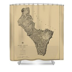 Map Of West Point 1883 Shower Curtain by Andrew Fare