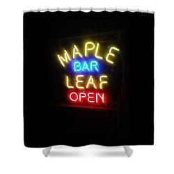 Maple Leaf Bar Shower Curtain by Deborah Lacoste