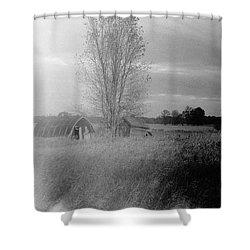 Shower Curtain featuring the photograph Maple Ridge Rd Farm by Daniel Thompson