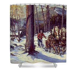 Maple Sugar Time Shower Curtain