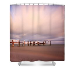 Marathon Key Long Exposure Shower Curtain by Adam Romanowicz