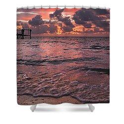 Marathon Key Sunrise Panoramic Shower Curtain by Adam Romanowicz