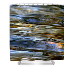 Marbeled Movement Shower Curtain by Neal Eslinger
