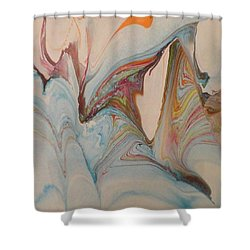 Shower Curtain featuring the painting Marble 24 by Mike Breau