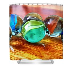 Marble Ducks Shower Curtain by Isabella F Abbie Shores FRSA