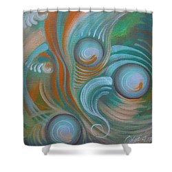 Marble Madness Shower Curtain