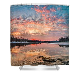 Marble Sky II Shower Curtain by Davorin Mance