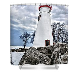 Marblehead Lighthouse Shower Curtain by Renee Sullivan