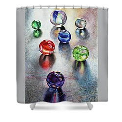 Marbles 1 Shower Curtain