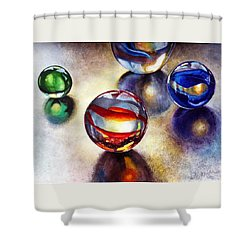 Marbles 2 Shower Curtain