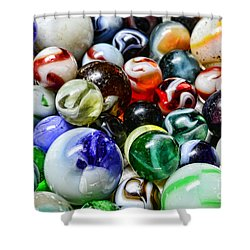 Marbles All That Color Shower Curtain by Paul Ward